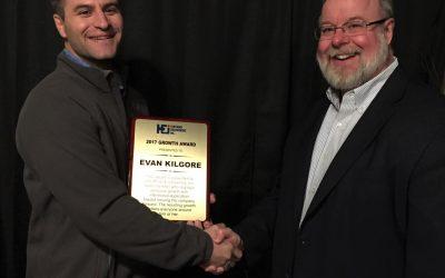 Evan Kilgore Receives '2017 Growth Award' for Impact on Denver Office